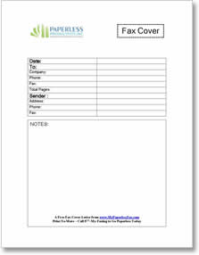 Generic business fax cover letter template